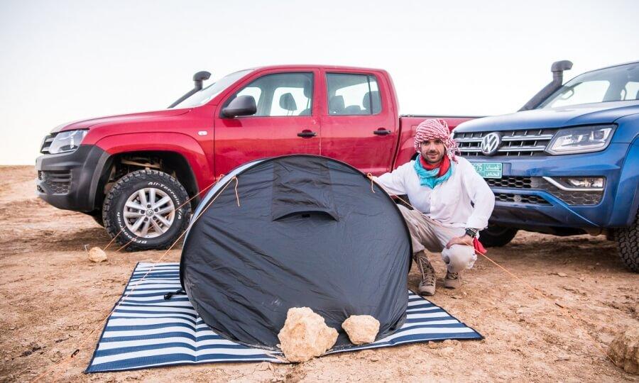 Benjamin Brodbeck im Oman bei VW Amarok Adventure Tour 2018