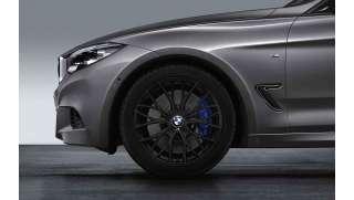 BMW Winterkompletträder M Doppelspeiche 405 schwarz matt 18 Zoll RDCi 3er F34 GT