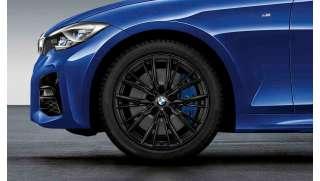 BMW Winterkompletträder M Doppelspeiche 796 schwarz 18 Zoll RDCi 18 Zoll 3er G20 G21 RDCi