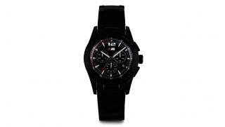 BMW M Uhr Chrono Metall Schwarz