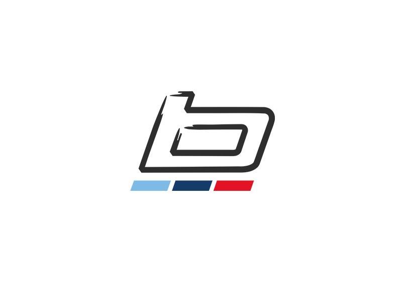 BMW Golfsport Schirm weiß / grau / rot
