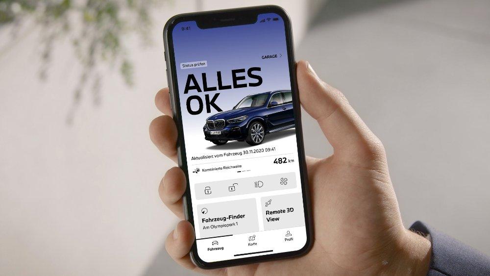 Erweiterte und neue Funktionen in der My BMW App